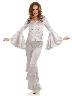 Adult Silver Dancing Queen Costume