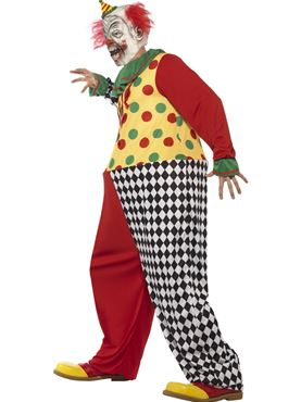 Adult Sinister Clown Costume - Back View