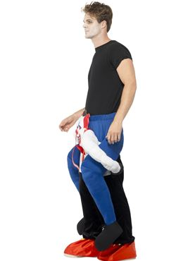 Adult Sinister Clown Piggy Back Costume - Back View