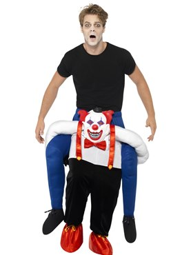 Adult Sinister Clown Piggy Back Costume