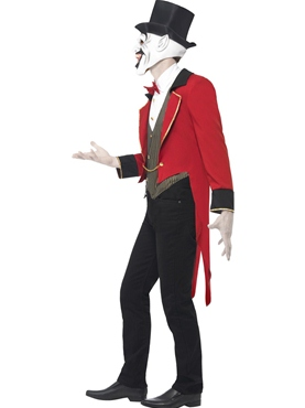Adult Sinister Ringmaster Costume - Back View