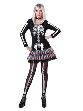 Adult Skeleton Maiden Costume