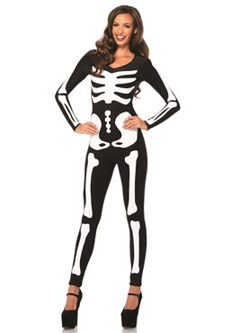 Adult Skeleton Catsuit Costume
