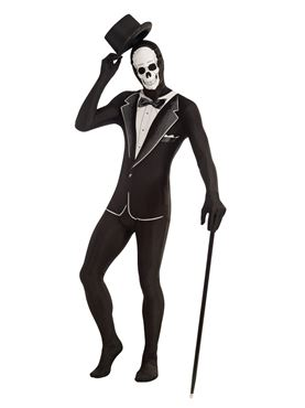 Adult Skeleton Disappearing Man Costume