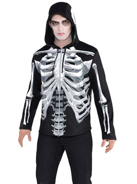 Adult Skeleton Hoodie Couples Costume