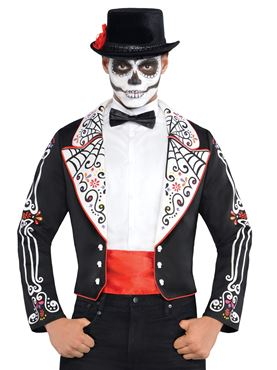 Adult Day of the Dead Senor Tailcoat Jacket Couples Costume