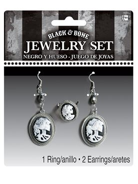 Adult Cameo Skeleton Jewellery Set