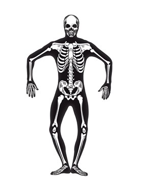 Adult Skeleton Second Skin Costume