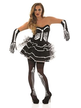 Adult Skeleton Tutu Dress Costume Thumbnail