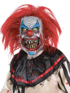 Adult Slashed Clown Latex Mask
