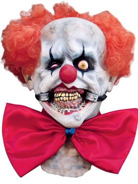 Adult Deluxe Smiley Clown Latex Mask