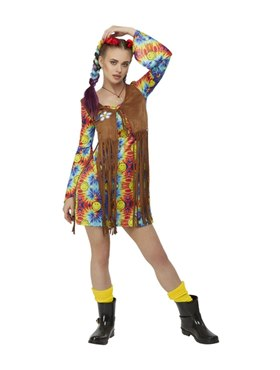 Adult Smiley Hippy Dress Costume - Back View