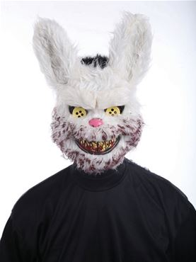 Adult Snowball Bunny Mask Couples Costume