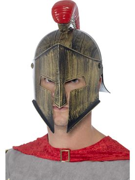 Adult Spartan Helmet - Back View