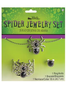 Adult Spider Jewellery Set