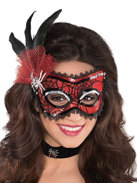 Adult Spider Web Mask