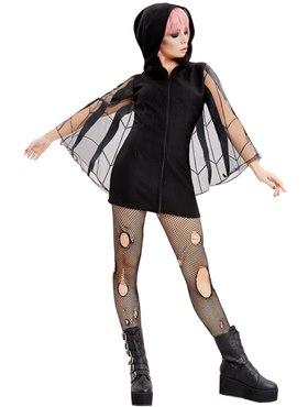 Adult Spider Zip Up Jumper Dress Costume