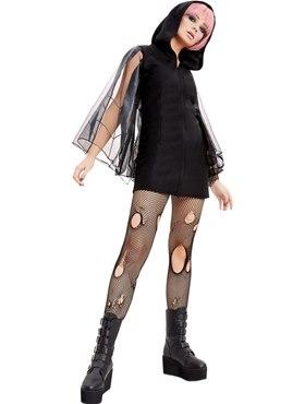 Adult Spider Zip Up Jumper Dress Costume - Back View