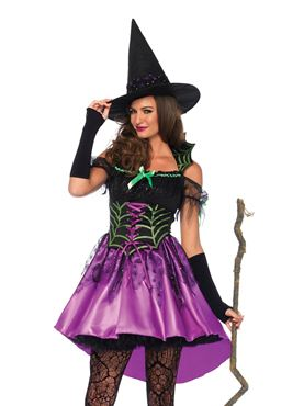 Adult Spiderweb Witch Costume