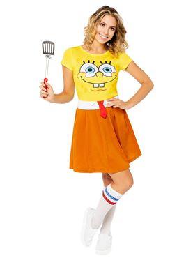 Adult SpongeBob SquarePants Dress Costume Couples Costume