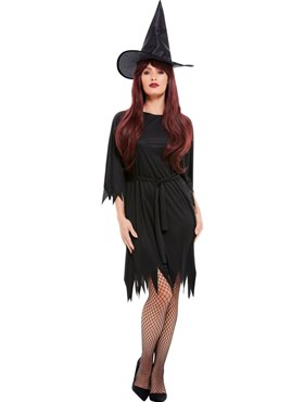 Adult Spooky Witch Costume - Back View