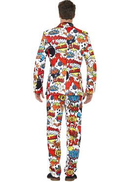 Adult Stand Out Comic Strip Suit - Back View