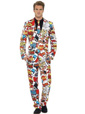 Adult Stand Out Comic Strip Suit Couples Costume