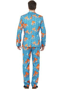 Adult Stand Out Goldfish Suit - Back View