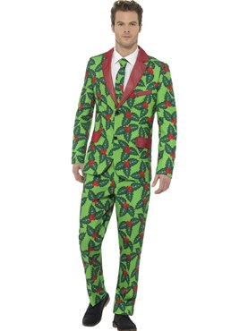 Adult Stand Out Holly Berry Suit