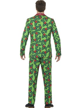 Adult Stand Out Holly Berry Suit - Side View