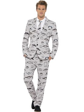 Adult Stand Out Moustache Suit