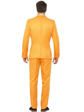Adult Stand Out Orange Suit - Back View