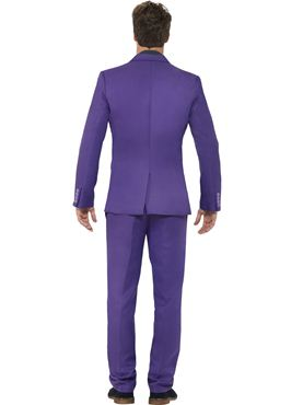 Adult Stand Out Purple Suit - Back View
