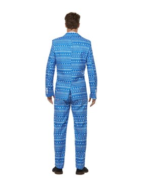 Adult Stand Out Wrapping Paper Suit - Back View