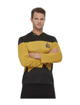 Adult Star Trek The Next Generation Operations Costume - Back View