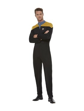 Adult Star Trek Voyager Operations Costume Couples Costume