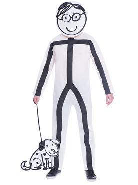 Adult Stick Man Costume Couples Costume