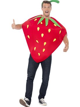Adult Strawberry Costume - Back View