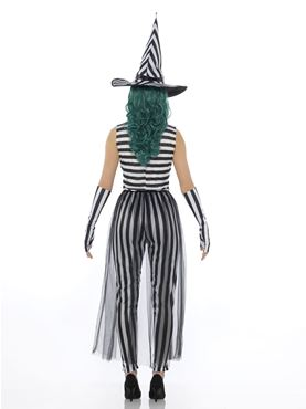Adult Stripey Witch Costume - Side View