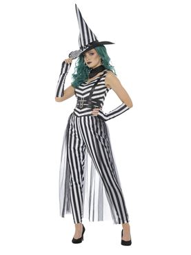 Adult Stripey Witch Costume Couples Costume