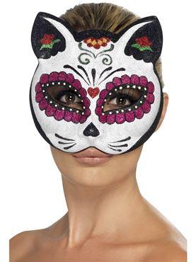 Adult Sugar Skull Cat Eye Mask