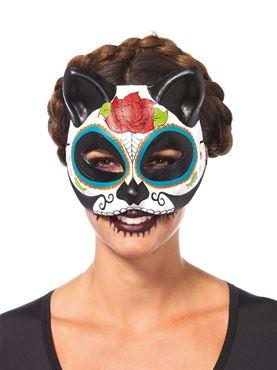 Adult Sugar Skull Cat Mask