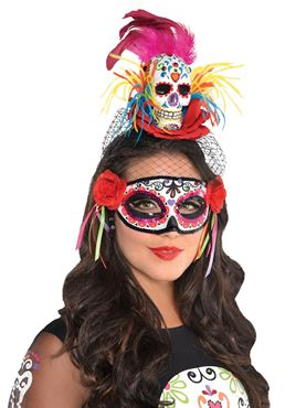 Adult Sugar Skull Headband