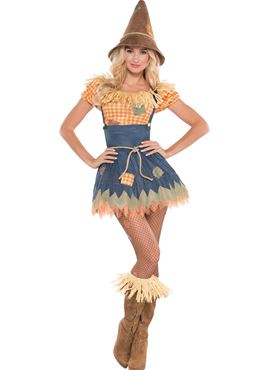 Adult Sultry Scarecrow Costume Couples Costume