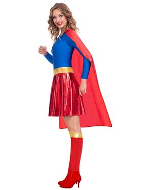Adult Supergirl Classic Womens Costume - Side View