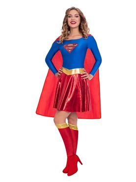 Adult Supergirl Classic Womens Costume - Back View