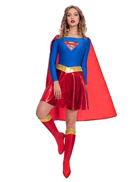 Adult Supergirl Classic Womens Costume Couples Costume