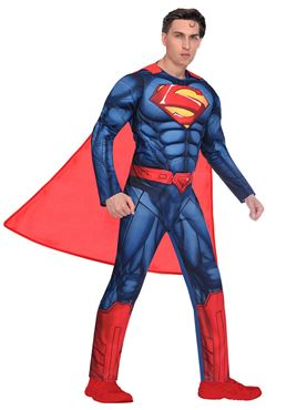 Adult Superman Classic Mens Costume - Side View