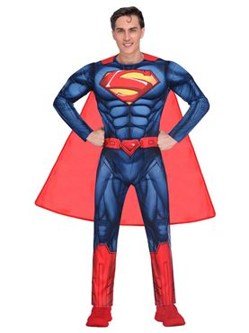 Adult Superman Classic Mens Costume - Back View