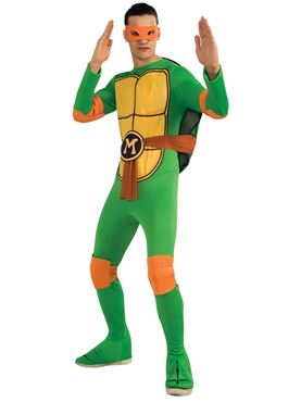 Adult Teenage Mutant Ninja Turtles Michaelangelo Costume Thumbnail